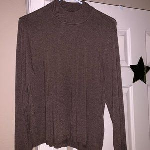 Chocolate Mock Neck Chico's Sweater